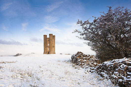 Broadway tower in winter snow by Andrew  Michael