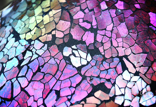 Broken Glass Mosaic Squares by Angela Waye