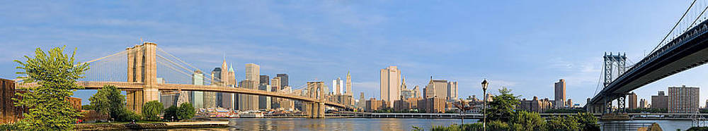 Brooklyn And Manhattan Bridges At Sunrise Crop2 by Val Black Russian Tourchin