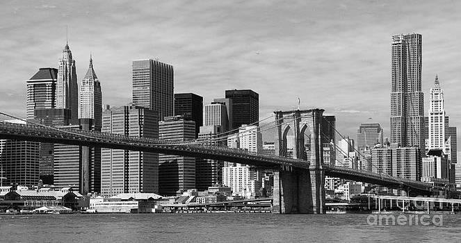 Brooklyn Bridge and Skyline by Holger Ostwald