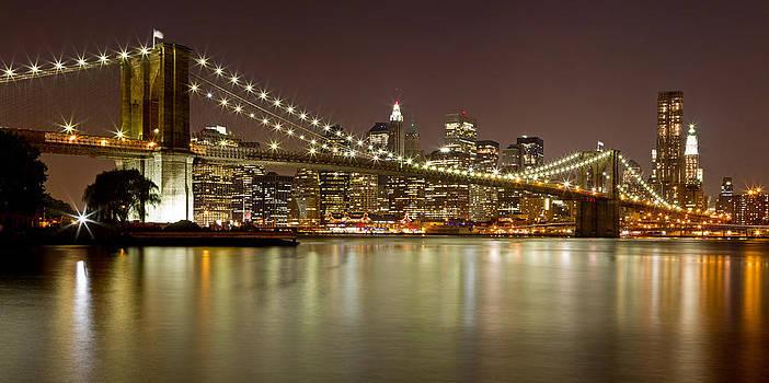 Val Black Russian Tourchin - Brooklyn Bridge at Night Panorama 9
