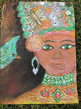 Anne-Elizabeth Whiteway - Brown Skinned Beauty with green eyes