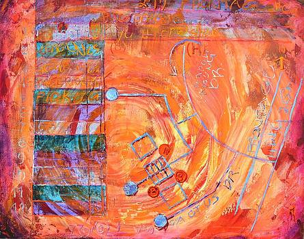 Bruised Map by Bob Rowell
