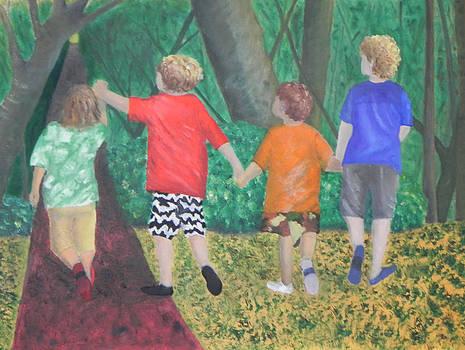Buddies on a Stroll by Ernie Goldberg