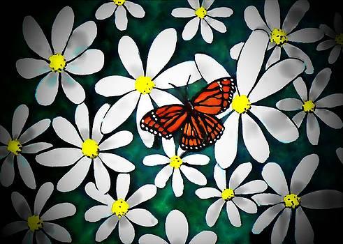 Butterfly in the Flowers by Jennifer Jeffris