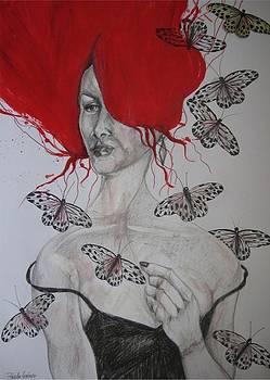 Butterfly Lady by Brigitte Hintner