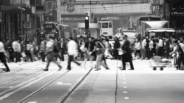 bw Hong Kong street view by Kam Chuen Dung