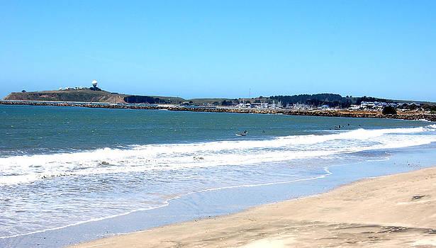 California Beach at El Granada by Carolyn Donnell