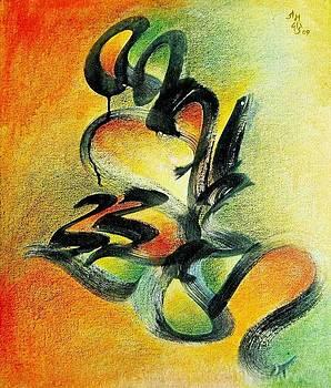 Calligraphy 4 by Subhash Jamdade