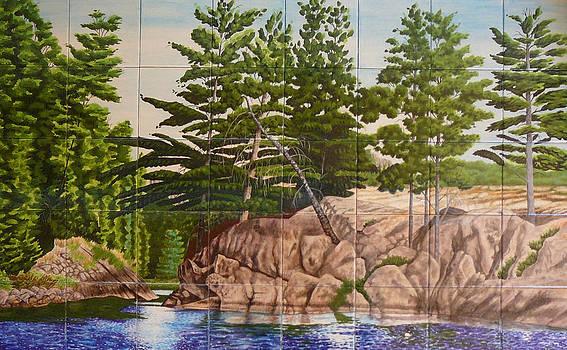 Canadian Wilderness Mural by Dy Witt