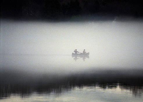 Canoe in Fog by Kurt Weiss