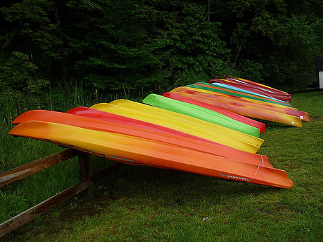 Canoes  by Pamela Turner