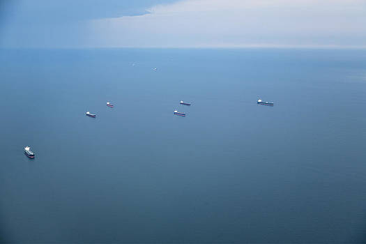 Cargo Ships And Oil Tankers by Roberto Westbrook