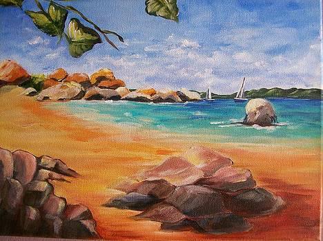 Caribbean Bay by Barbara Ruzzene
