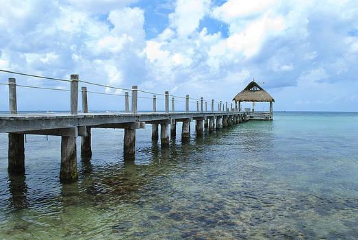 Caribbean Pier by Anna Crowder