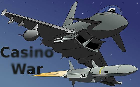 Casino War Euro-Fighter by Casino Artist