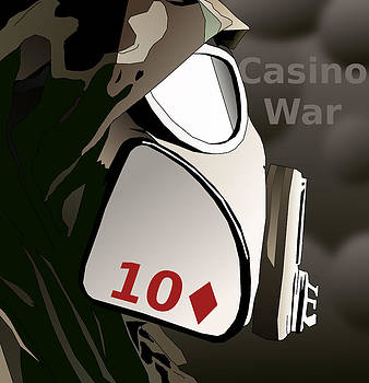 Casino War Gas Mask by Casino Artist