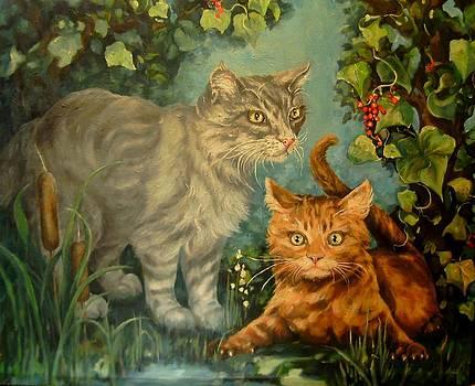 Cat Hideaway by Pamela Humbargar