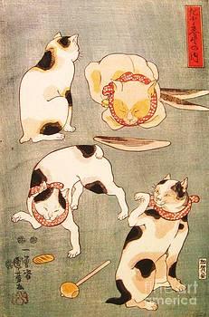 Utagawa Kuniyoshi - Cat Poses