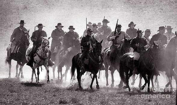 Cavalry on the move by Alan Crosthwaite