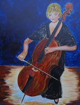 Cello Player by Carolyn Speer
