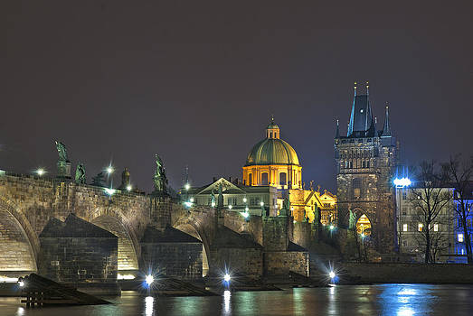Charles bridge Prague by Travel Images Worldwide