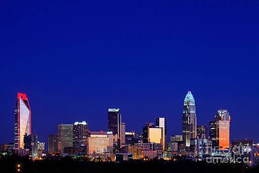 Charlotte skyline at sunrise by Patrick Schneider