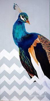 Chevron Peacock by Devan Gregori