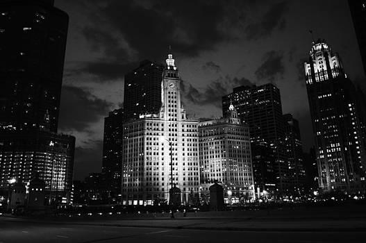 Chicago at night by Kati Stutsman