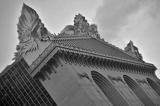 Chicago Harold Washington Library - Black and White Photo by Jeramie Curtice