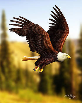 Chili Pepper Bald Eagle by Bill Fleming