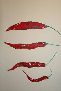 Chili Red Peppers by Mladen Kandic