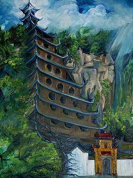 Chinese Hanging Temple by Jennifer Christenson