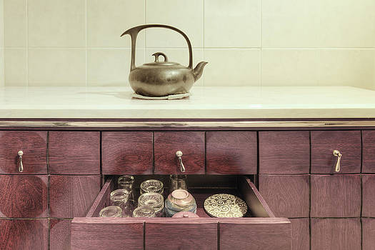 Chinese Pottery Pot On A Kitchen by Lawren Lu