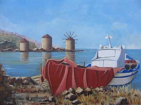 Chios - Khios - Tris Milis - Trois moulins by Lesuisse Viviane