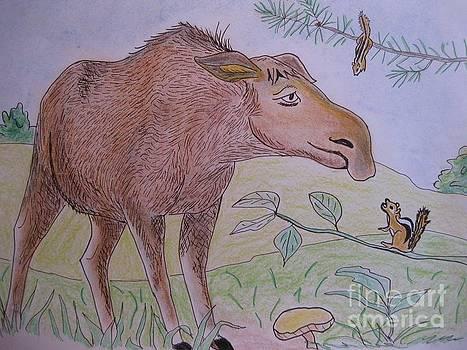 Stella Sherman - Chipmunks Tease Mildred the Moose