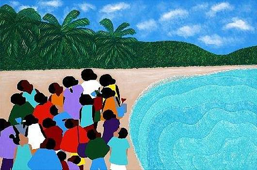 Chou Chou Beach Haiti by Synthia SAINT JAMES