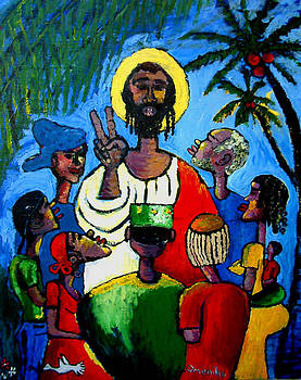 Christ Teaching by Omenihu Amachi