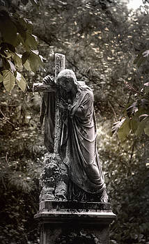 Christ with Cross by Kelly Rader