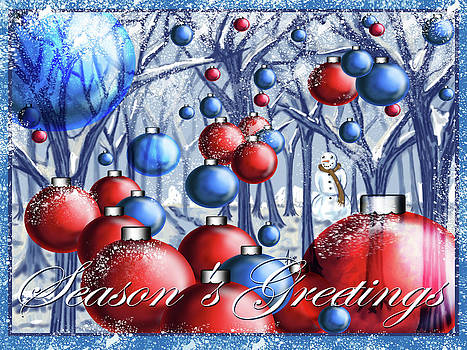Christmas Ornaments Forest by Steve Farr