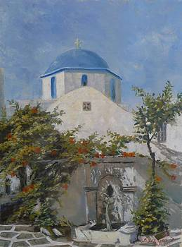 Church on Skopelos Greece by Charalampos Laskaris