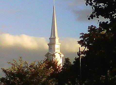 Church Steeple in the Sun by Stephen Melcher