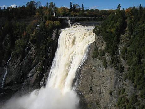 Chutes Montmorency Quebec City by Margarete M Kedl