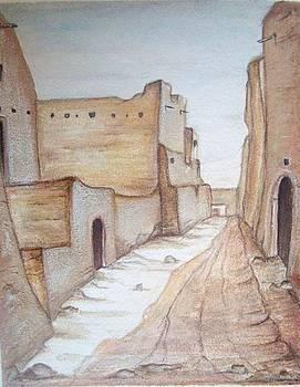City in sahara by Abbas Djamat