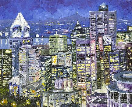 Cityscape blue night  by Dumba Peter