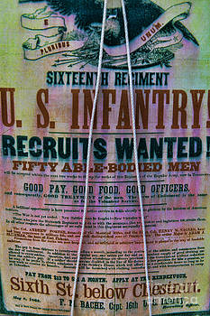 Civil war recruiting poster by Alan Crosthwaite