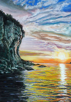 Cliff sunset by Peter Jackson