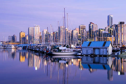 Coal Harbor Vancouver by Marlene Ford