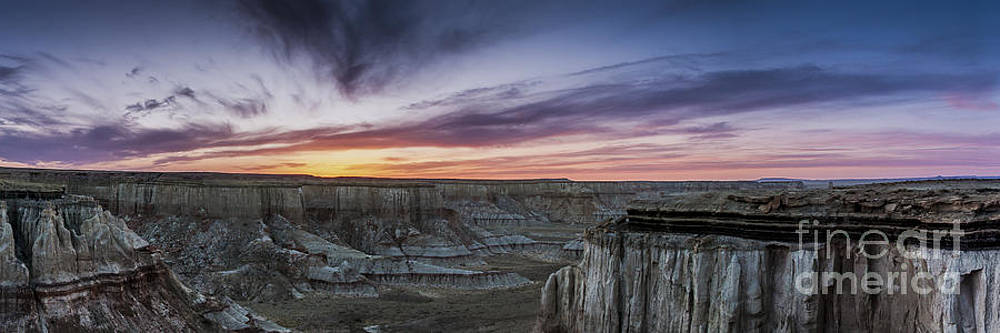 Darcy Michaelchuk - Coalmine Canyon Panoramic Sunset Cropped