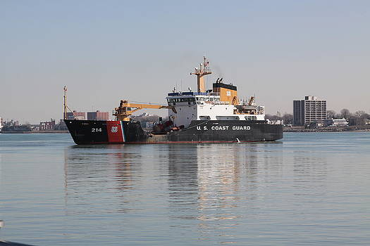 Jim Vansant - Coast Guard Boat on the Detroit River